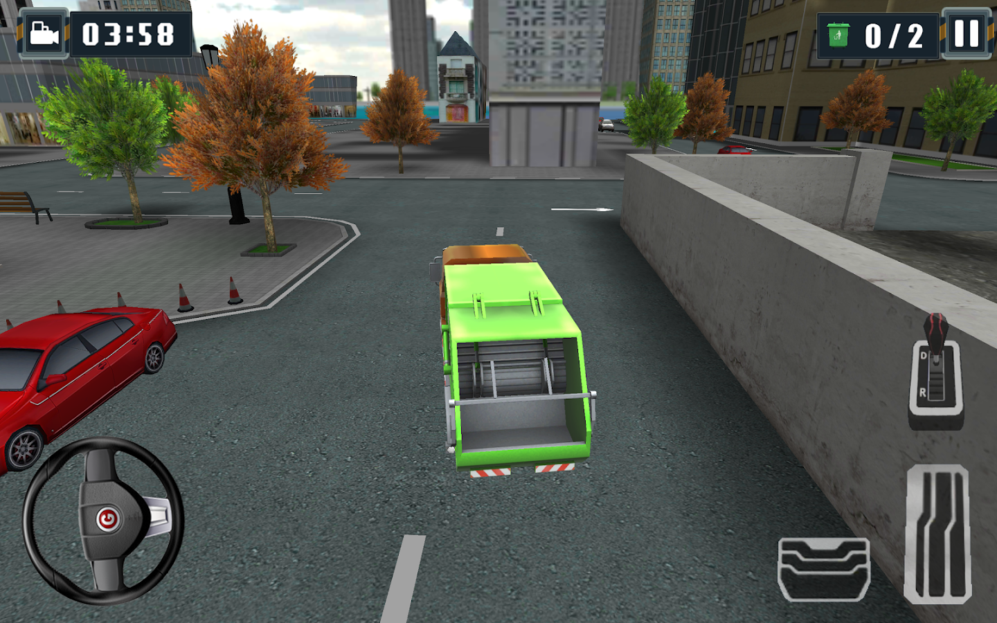 3d garbage truck parking sim android apps on google play