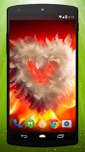 Feather Heart Live Wallpaper