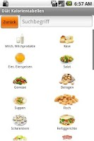 Screenshot of Diät Kalorientabelle