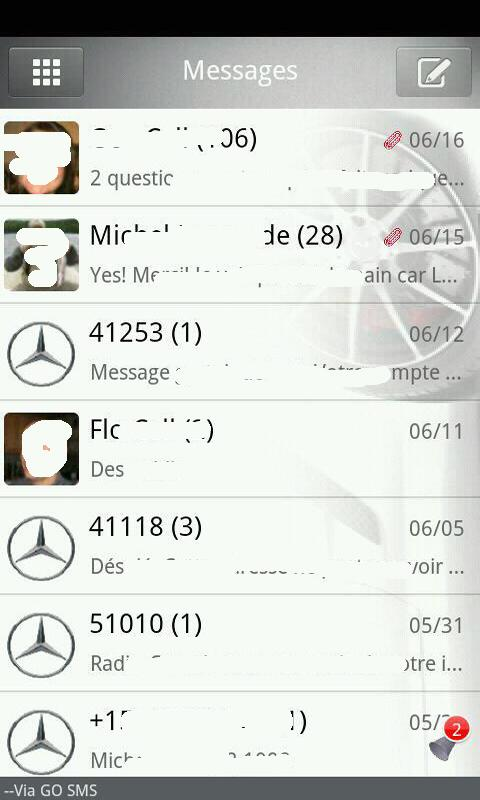 Go sms Mercedes Benz - screenshot