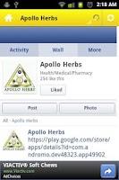 Screenshot of Apollo Herbs