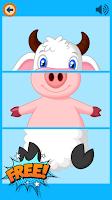 Screenshot of Three Pieces - Kids Match ZOO