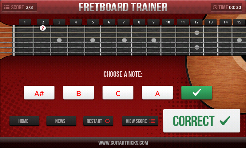 Guitar Fretboard Challenge- screenshot