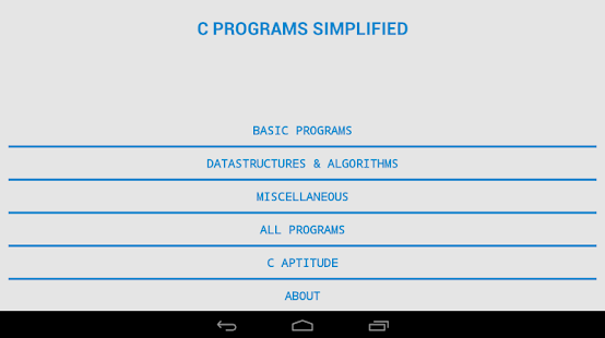 C PROGRAMS SIMPLIFIED