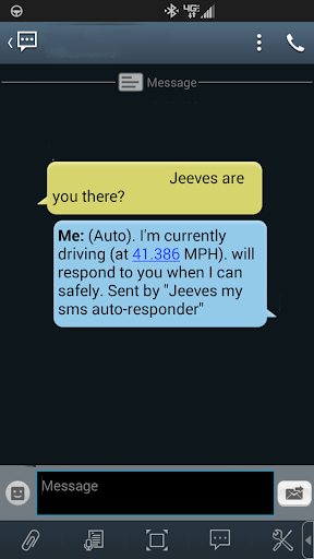 Jeeves: My SMS Auto-responder