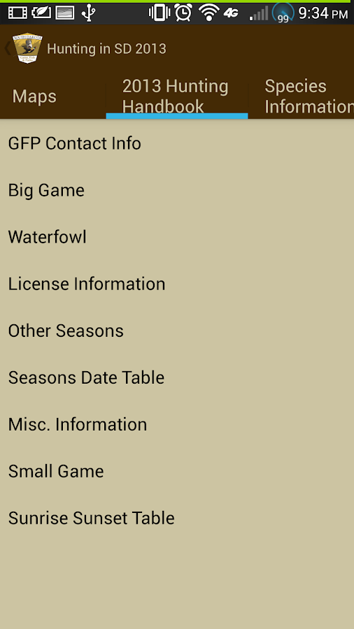 Sd gfp outdoors android apps on google play for Sd game fish parks
