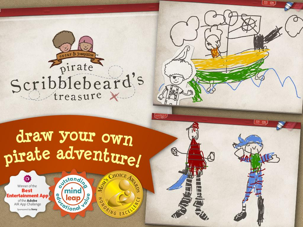 Pirate Scribblebeard Draw Free - screenshot