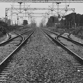 Railways by Mukesh Mishra - Black & White Objects & Still Life ( railways photography friends surat lovely day,  )