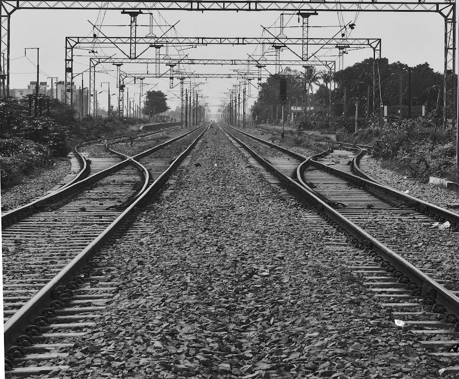 Railways by Mukesh Mishra - Black & White Objects & Still Life ( railways photography friends surat lovely day,  )