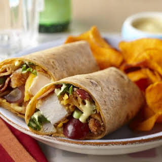 Honey Mustard Crispy Chicken Wrap.