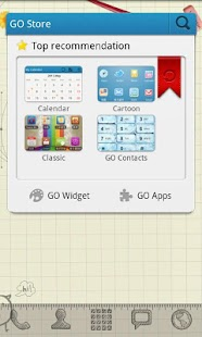 Sketch Theme GO Launcher EX - screenshot thumbnail