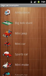 Lego car examples