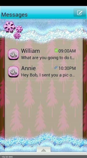 GO SMS THEME SleighBells3