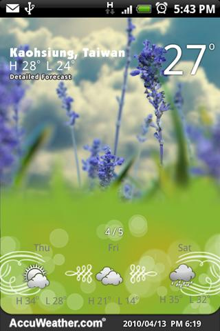 9s-Weather Theme+ (Wonderland)- screenshot