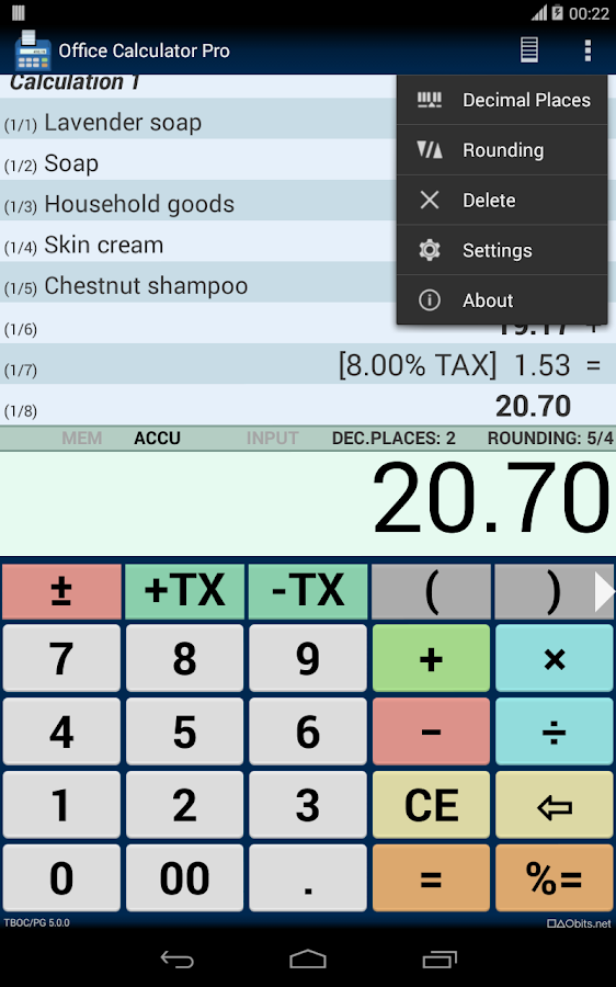Office Calculator Pro- screenshot