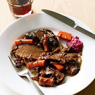 Red Wine and Onion-Braised Passover Brisket