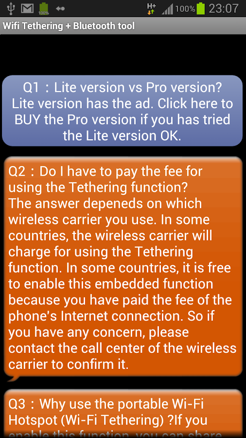 Family mobile tethering hack