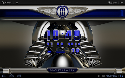 Digi Clock Widget Blue Saphir APK screenshot thumbnail 8