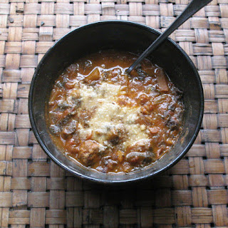 Spicy Smoked Beef Chili with Chipotles,Chorizo,Beans & Corn,Served w/ Lime Crema.