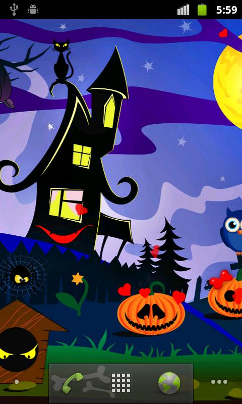 Halloween Live Wallpapers Free- screenshot