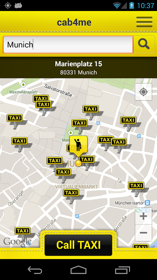 cab4me taxi finder- screenshot