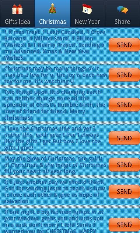 Christmas & New Year SMS- screenshot