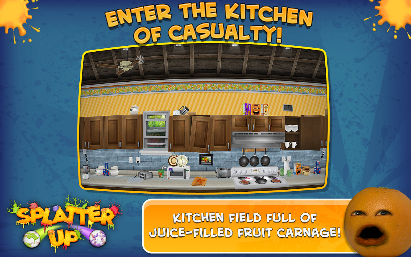 Annoying Orange: Splatter Up!- screenshot