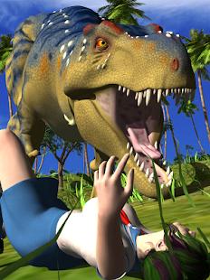 Schoolgirl and Dinosaur Puzzle