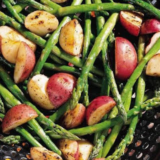 Grilled Asparagus and New Potatoes.
