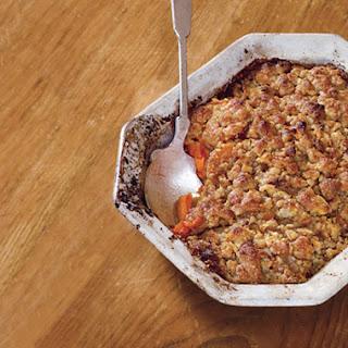 Garnet Yams with Blis Maple Syrup and Maple-Sugar Streusel.