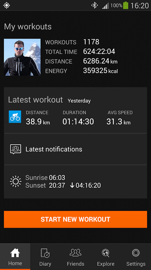 Sports Tracker Running Cycling - screenshot