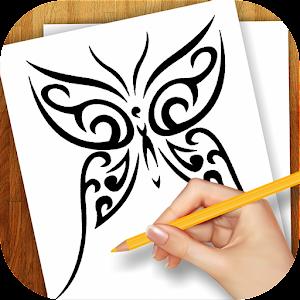 学习绘制纹身设计 家庭片 App LOGO-硬是要APP