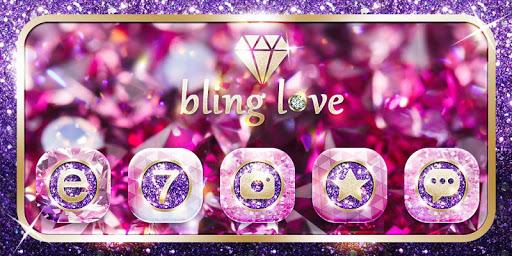 Bling Love GO Launcher Theme