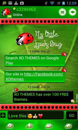 Ladybug Dark PRO Theme Go SMS