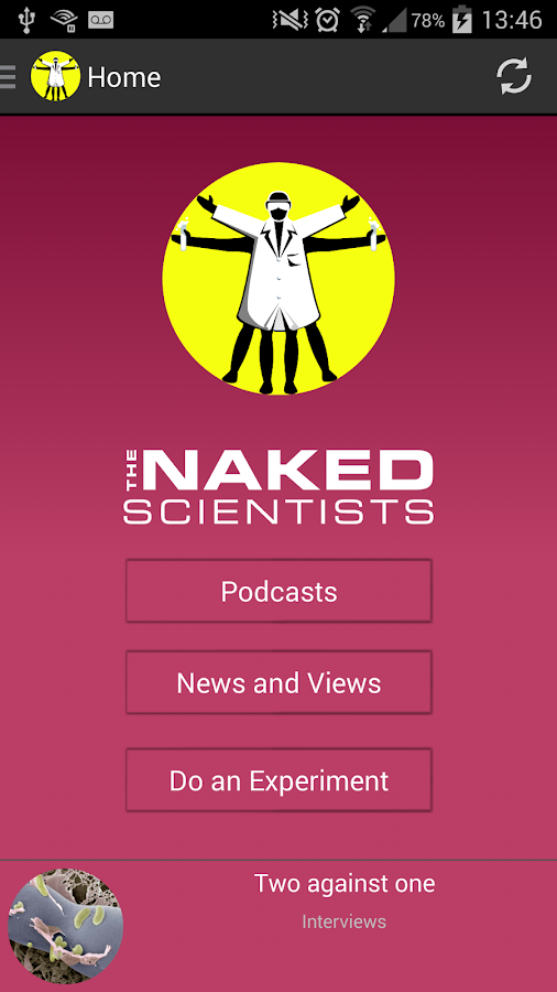 The Naked Scientists App- screenshot