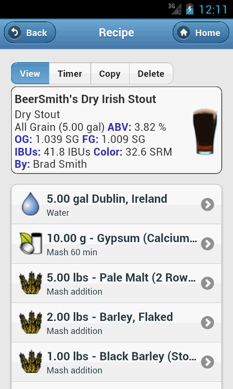 BeerSmith 2 Mobile Homebrewing- screenshot