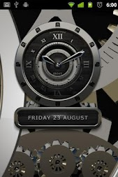 Luxus Ebony HQ Clock Widget APK screenshot thumbnail 2