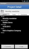 Screenshot of ClientSpot Project Management