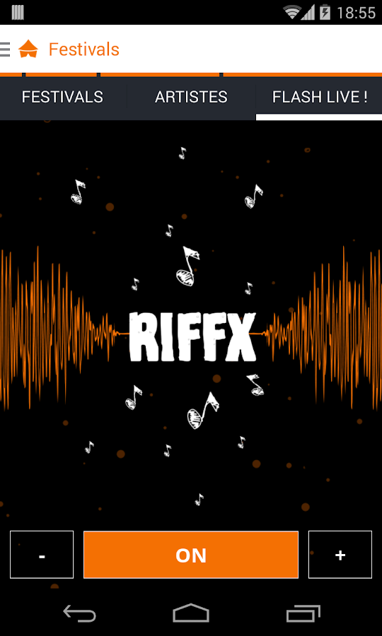 Riffx- screenshot