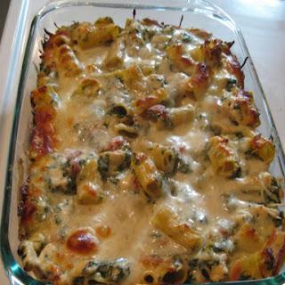 Chicken & Spinach Pasta Bake.