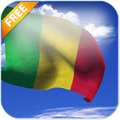 3D Mali Flag Live Wallpaper