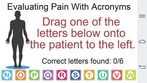 Evaluating Pain with Acronyms