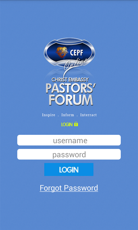 CEPF Mobile- screenshot