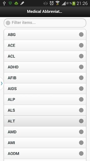 【免費醫療App】Medical Abbreviation Handbook-APP點子