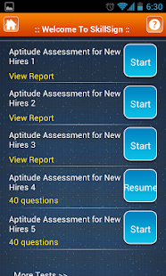 Aptitude Tests for new hires - screenshot thumbnail