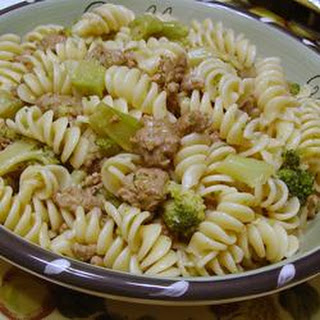 Italian Sausage with Farfalle and Broccoli Rabe
