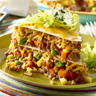 Beefy Vegetable Taco Pie.
