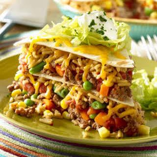 Beefy Vegetable Taco Pie.