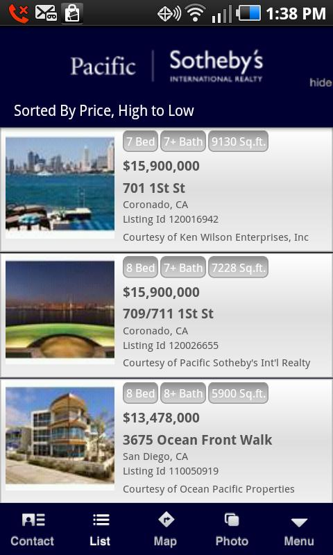 Sotheby's International Realty - screenshot