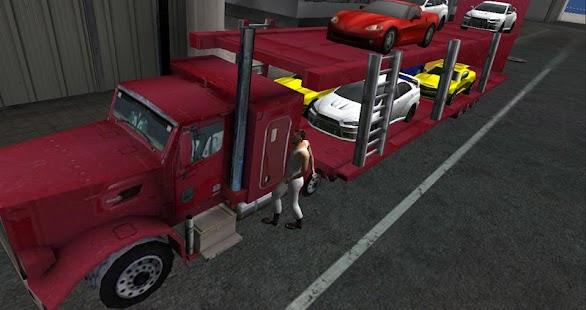 3D汽車運輸卡車卡